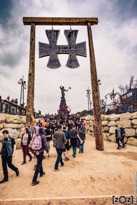 La nouvelle scène Warzone, au Hellfest à Clisson, le 18 juin 2016. Festival de musiques extrêmes et metal en France.
