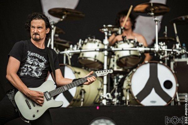 Gojira au Hellfest à Clisson, le 19 juin 2016. Festival de musiques extrêmes et metal en France.