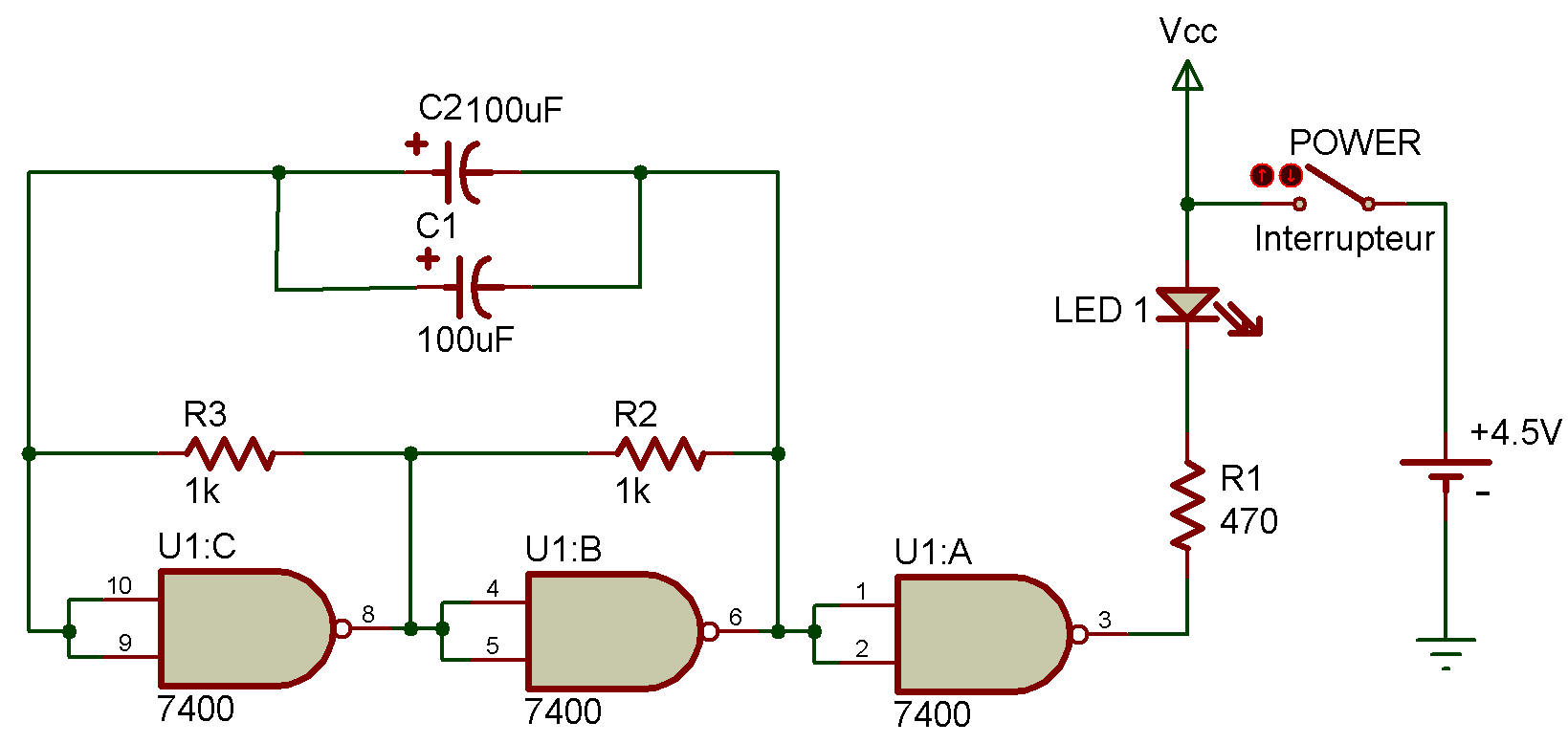 Ttl Astable Multivibrator