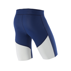 ATHLETIC COMPRESSION SHORTS M BlueberryWhite Back