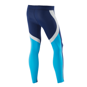 ATHLETIC COMPRESSION TIGHTS M BlueberryWhiteNordicblue Back