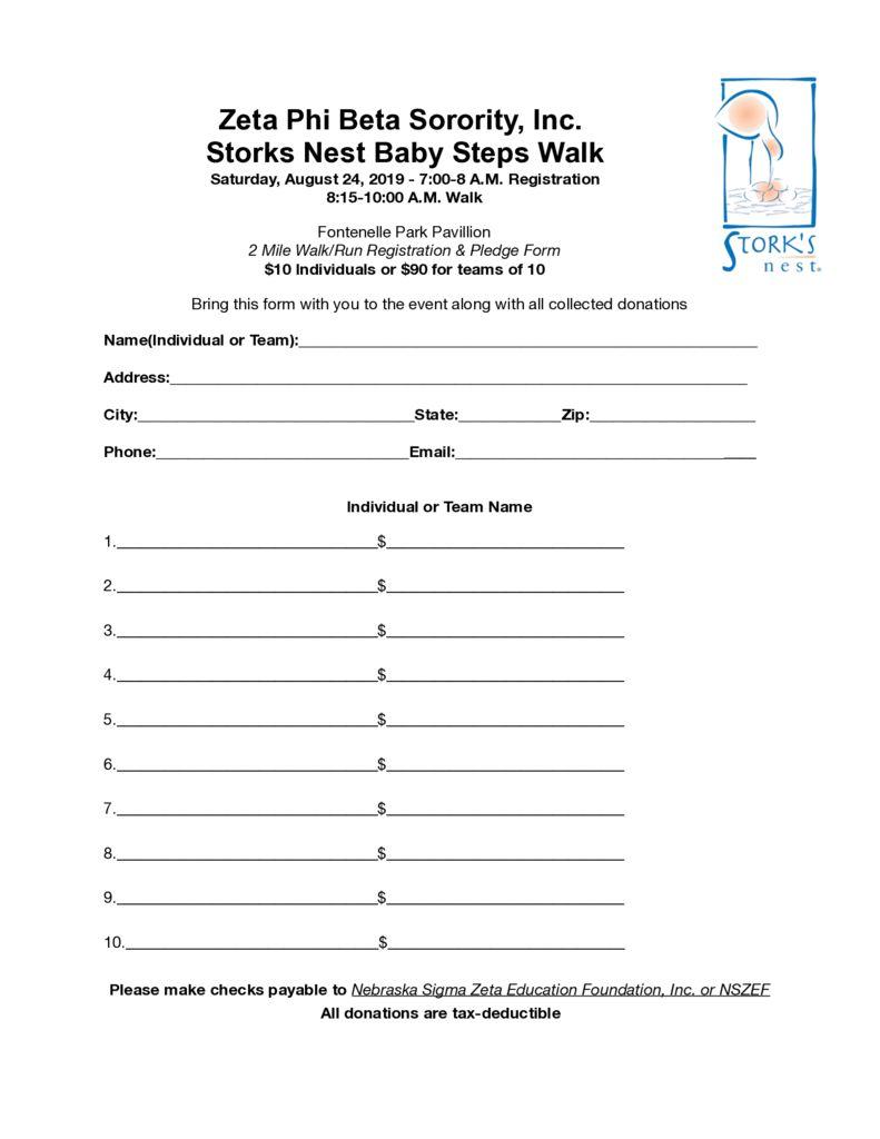thumbnail of Storks Nest registration form
