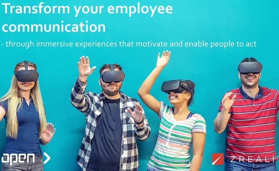 Open und ZREALITY kündigen eine strategische Partnerschaft an, die wirkungsvollen Inhalte für die interne Kommunikation mit der neuesten Mixed-Reality-Technologie kombiniert