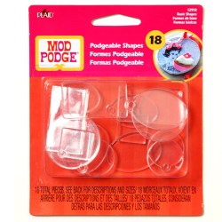 Mod Podge  Acrylic Shapes – Basics, Flat & Charm, 12918