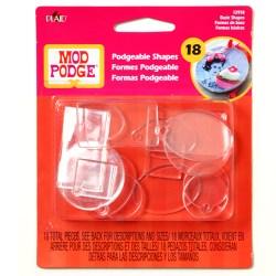 Mod Podge  Acrylic Shapes – Basics, Flat & Charm, 12918