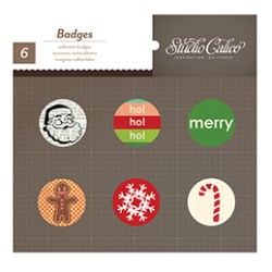 Прикраси Badges, SC Wonderland – Christmas, Studio Calico, 331185