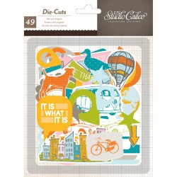Висічки Here & There Cardstock Die-Cuts, 49 шт, Studio Calico, 331309