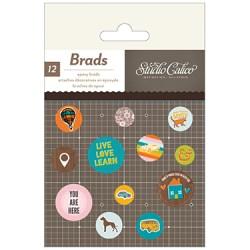 Брадси Epoxy Brads – SC Here & There, Studio Calico, 331315