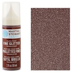 Фарба Fine Glitter Translucent Glass Paint – Brownstone, Martha Stewart Crafts™, 33153