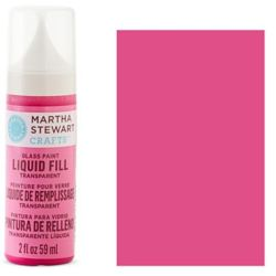 Фарба Liquid Fill Transparent Glass Paint – Lipstick Pink, Martha Stewart Crafts™, 33210