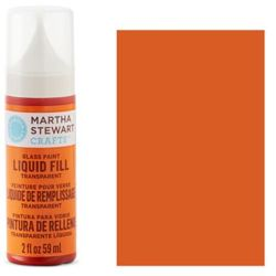 Фарба Liquid Fill Transparent Glass Paint – Monarch Orange, Martha Stewart Crafts™, 33213