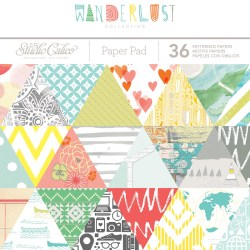Набір паперу Wanderlust, 15×15 см, Studio Calico, 332225