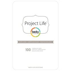 Заготовки для листівок 10х15 см, заокруглені, 100 шт, Project Life, American Crafts, 380071