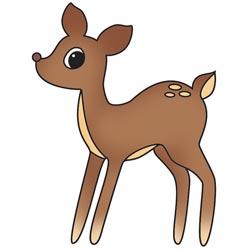 Штамп акриловий Bushels O' Fall – Deer, Imaginisce, 400266