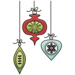 Штамп акриловий Colors Of Christmas – Small Ornaments, Imaginisce, 400287