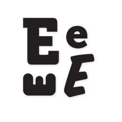Штампи, літера E, WeR Memory Keepers, 41310-3