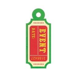 Тег з тисненням Embossed Tags – Event Ticket, 41661-6, 6 шт