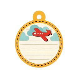 Тег з тисненням Embossed Tags – Red Airplane, 41663-0, 6 шт