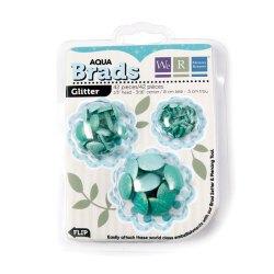 Брадси Basic Brads Glitter – Aqua, 42056-9