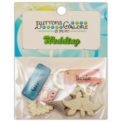 Ґудзики Bride & Groom, Buttons Galore, 4420