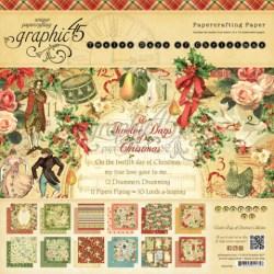 Набір паперу 12 Days of Christmas, 30х30 см, Graphic 45, 4500734