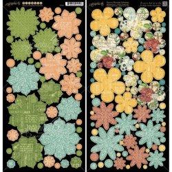 Набір висічок Time to Flourish Flowers, Graphic 45, 4501057