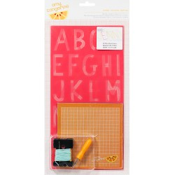 Трафарет для вишивки Amy Tangerine Embroidery Stencil Kit Inspire, 63069