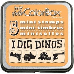 Гумові штампи My First ColorBox Mini Stamps, Dinos, ClearSnap, 68207