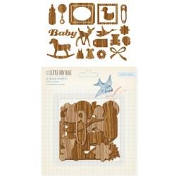 Дерев'яні висічки Baby Boy – Wood Veneer Shapes, 19 шт, 683034