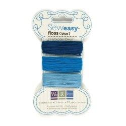 Нитки SewEasy Floss – Blues, WeR Memory Keepers, 71066-0