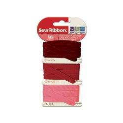 Набір стрічок SewRibbon – Ribbon Set – Red, 71229-9