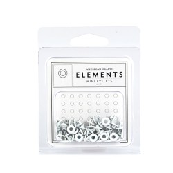 Люверси Mini Eyelets – White, American Crafts, 85462