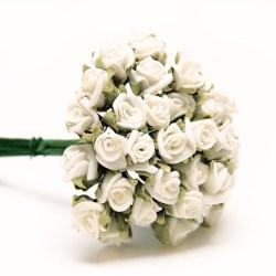 Букет троянд Foam Rose Small White, 12 шт, B1783WT