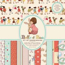 Набір паперу Belle and Boo, 30×30 см, BBDP001
