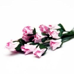 Букет троянд Petite Rosebud Pink, 12 шт, BRB1494PK