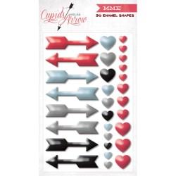 Декоративні емальовані цятки Cupid's Arrow, на клейкій основі, My Mind's Eye, CA1012