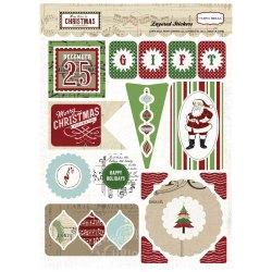 Об'ємні багатошарові наклейки So This is Christmas, Carta Bella, CBST20018