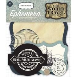 Висічки Old World Travel Ephemera Pack, Carta Bella, CBOWT53024