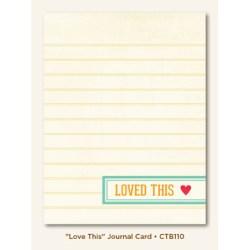 Картка для журналінгу Love This (Collectable), My Mind's Eye, CTB110