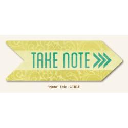 Картка для журналінгу Note, My Mind's Eye, CTB131