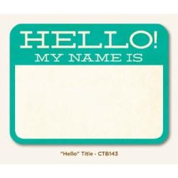 Картка для журналінгу Hello, My Mind's Eye, CTB143