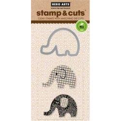 Набір штампи + ножі Stamp & Cuts Elephant, Hero Arts, DC135