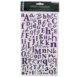 Наклейки Alphabet Glitter Stickers – Amethyst (Purple), DCAS10