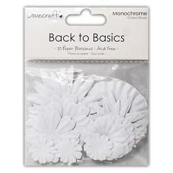 Набір квітів Back to Basics Monochrome, білі, Dovecraft, DCBL011