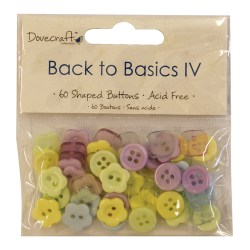 Ґудзики Back to Basics IV, Dovecraft, 60 шт, DCBN006