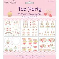 Набір паперу для 3D декупажу Tea Party, 20х20 см, Dovecraft, DCDG002