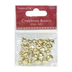Дзвоники Christmas Basics Jingle Bells – Gold, Dovecraft, DCMTL005X15