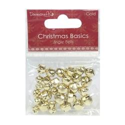 Дзвоники Christmas Basics Jingle Bells – Gold, Dovecraft, DCMTL005X15