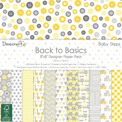 Набір паперу Back to Basics Baby Steps, 20×20 см, Dovecraft, DCPAP059