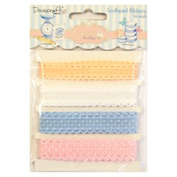 Набір стрічок Cupcake Boutique Lace Ribbon, Dovecraft, DCRB004